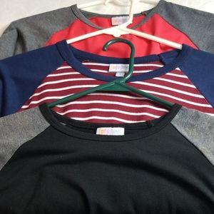 3 piece lot Randy LLR LuLaRoe Size Small tops
